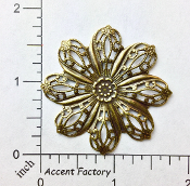 25823 - 1 Pc Round Floral Filigree Jewelry Finding Brass Ox