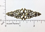 24333 - 2 Pc Victorian Filigree Jewelry Finding Brass Ox