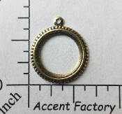 24973 - 4 Pc Round Loop Dangle Jewlery Finding Brass Ox